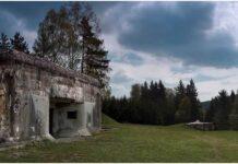 Betonová hranice v Orlických horách