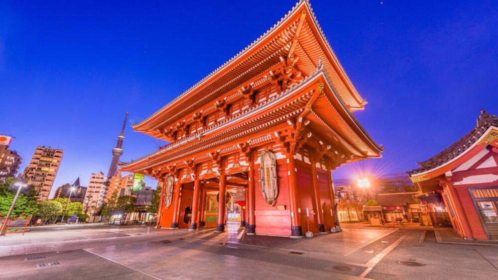 Asakusa Tokio v Japonsku