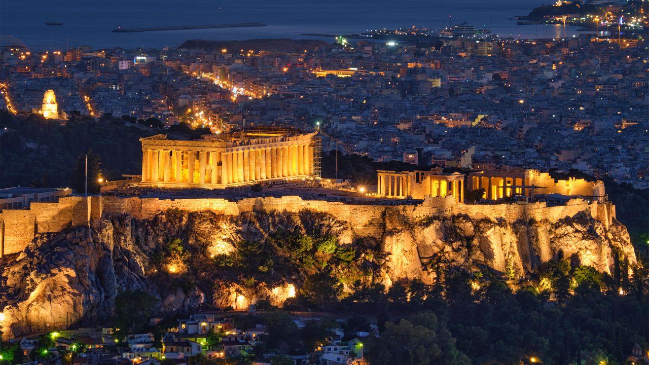 Atény - Chram v Acropolisu