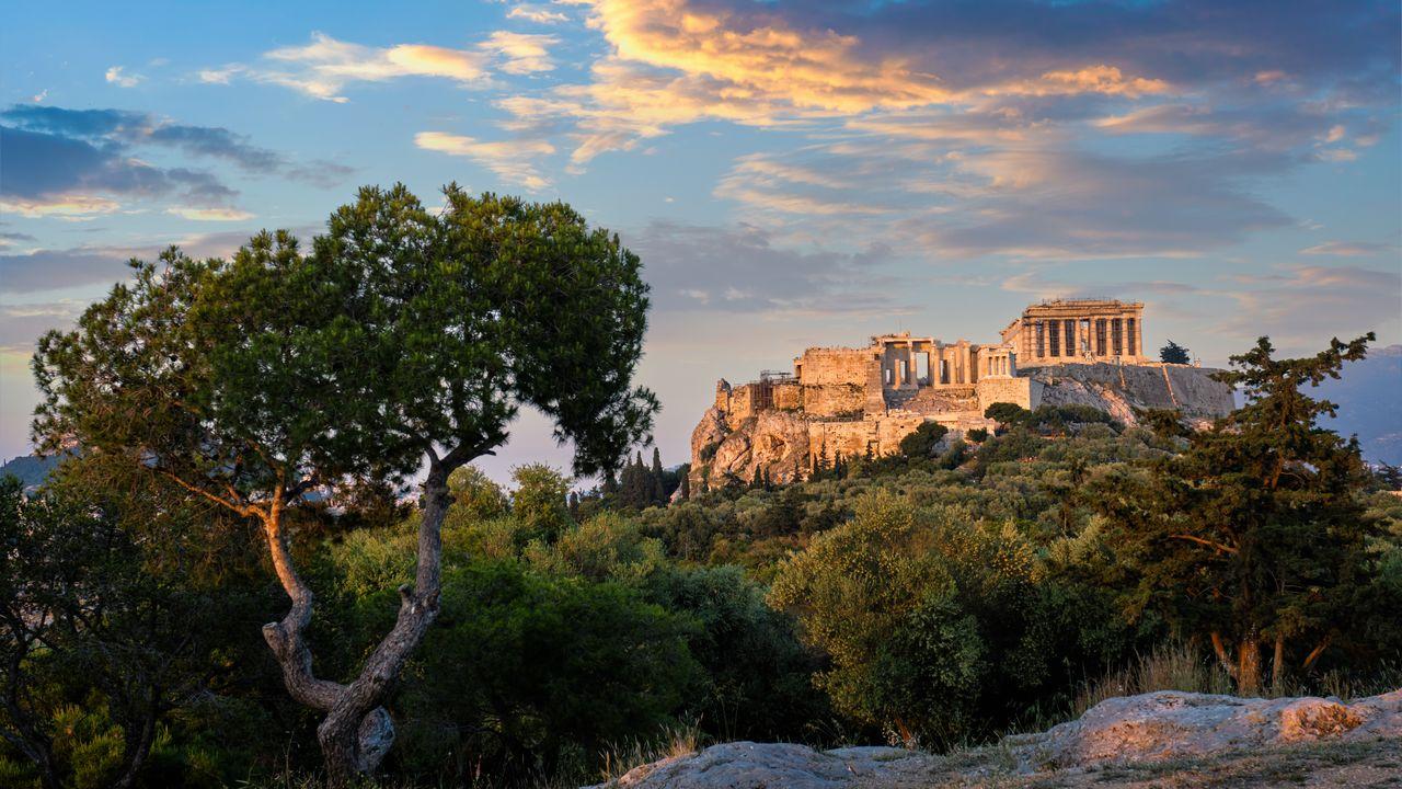 Chrám v Acropolisu - Atény