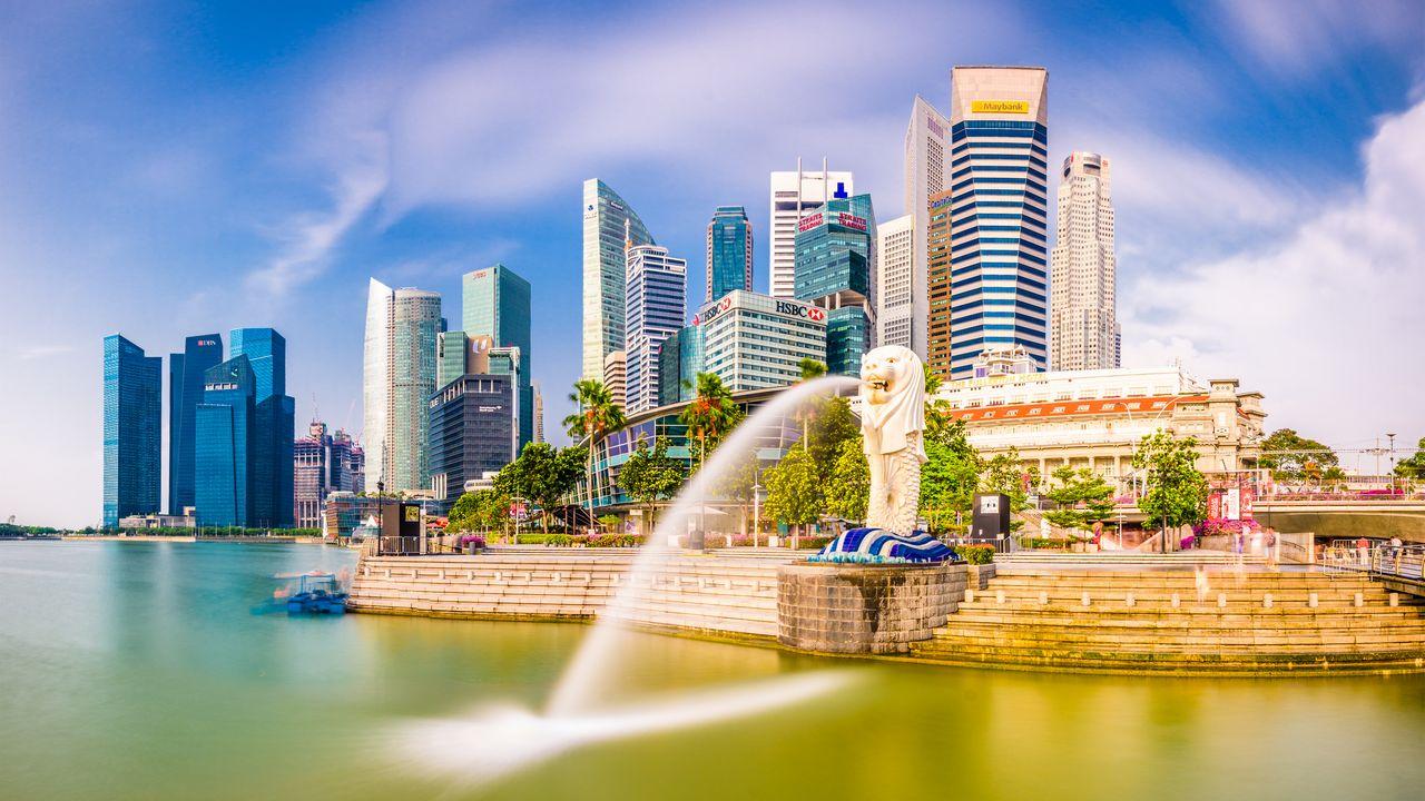 Fontána v Singapuru