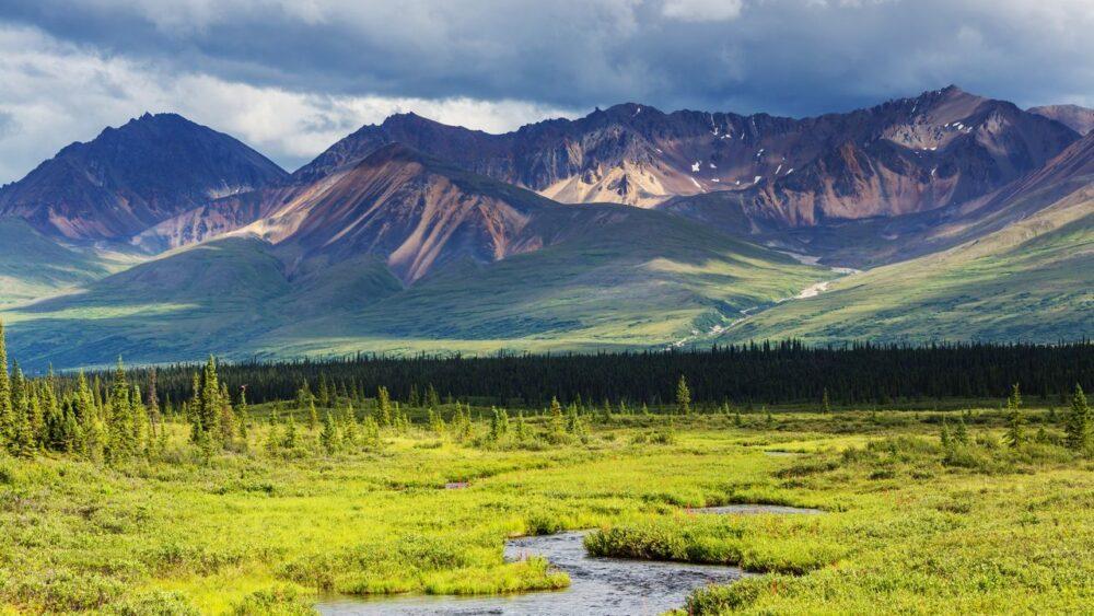 Hory a příroda na Aljašce