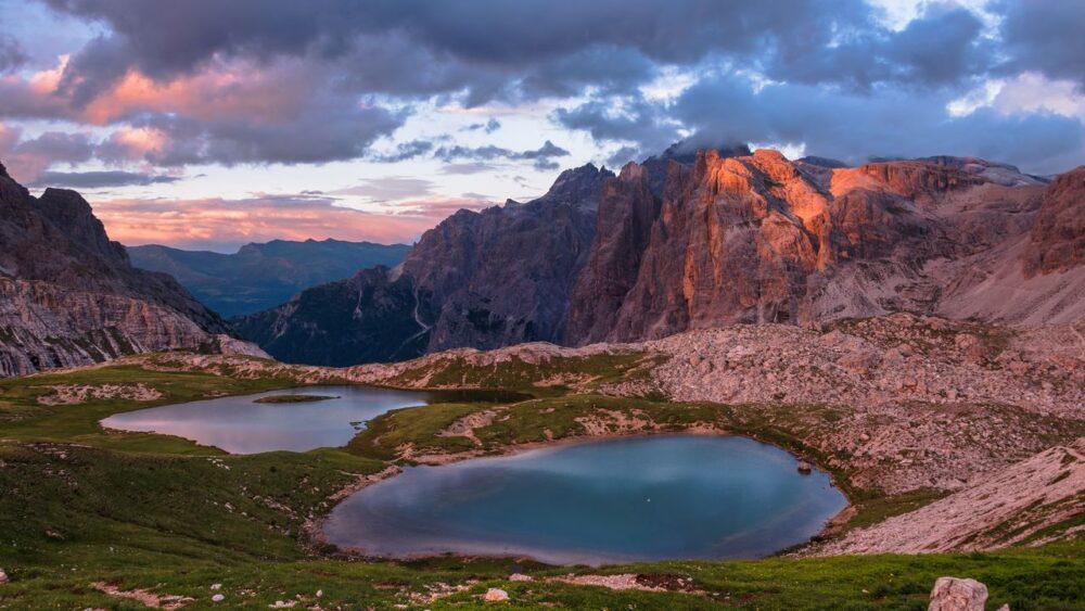 Jezero Dolomity Itálie