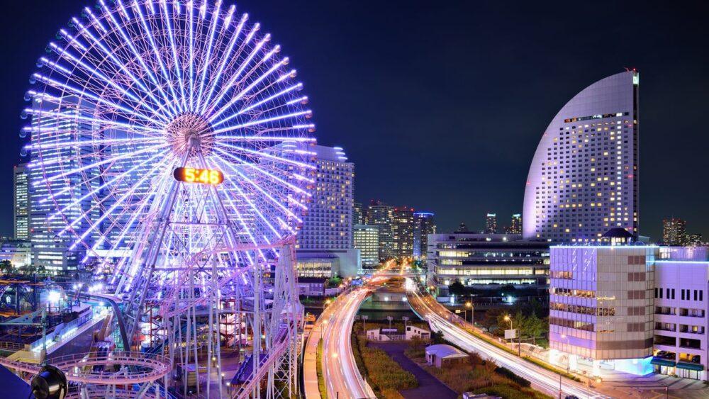 Jokohama v noci