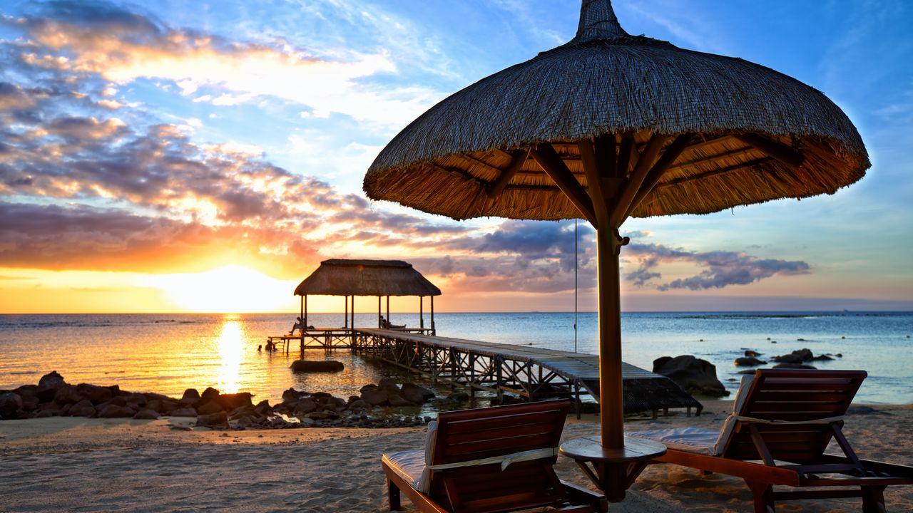 Mauricius západ slunce