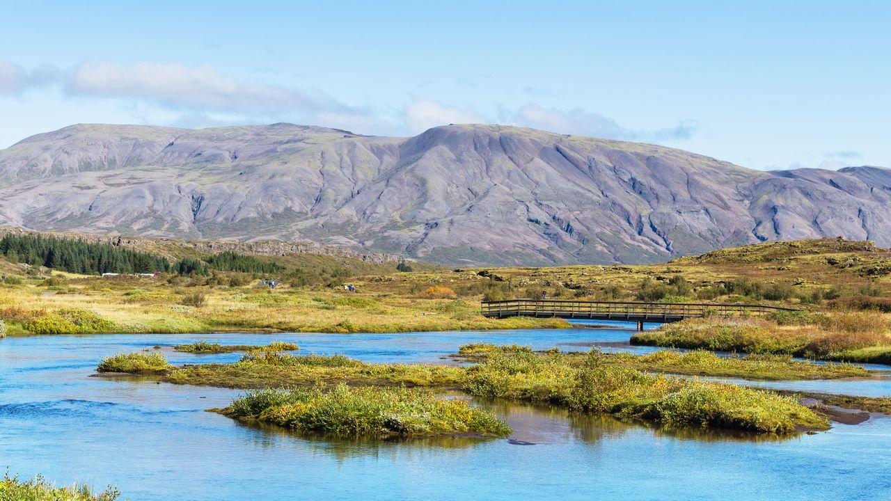 Oxara řeka na Islandu