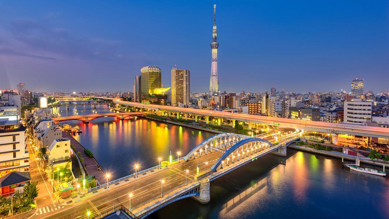 Panorama noční Tokio
