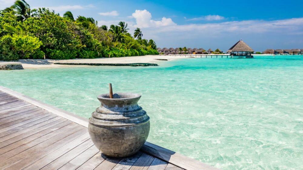 Pohled na oceán - Maledivy