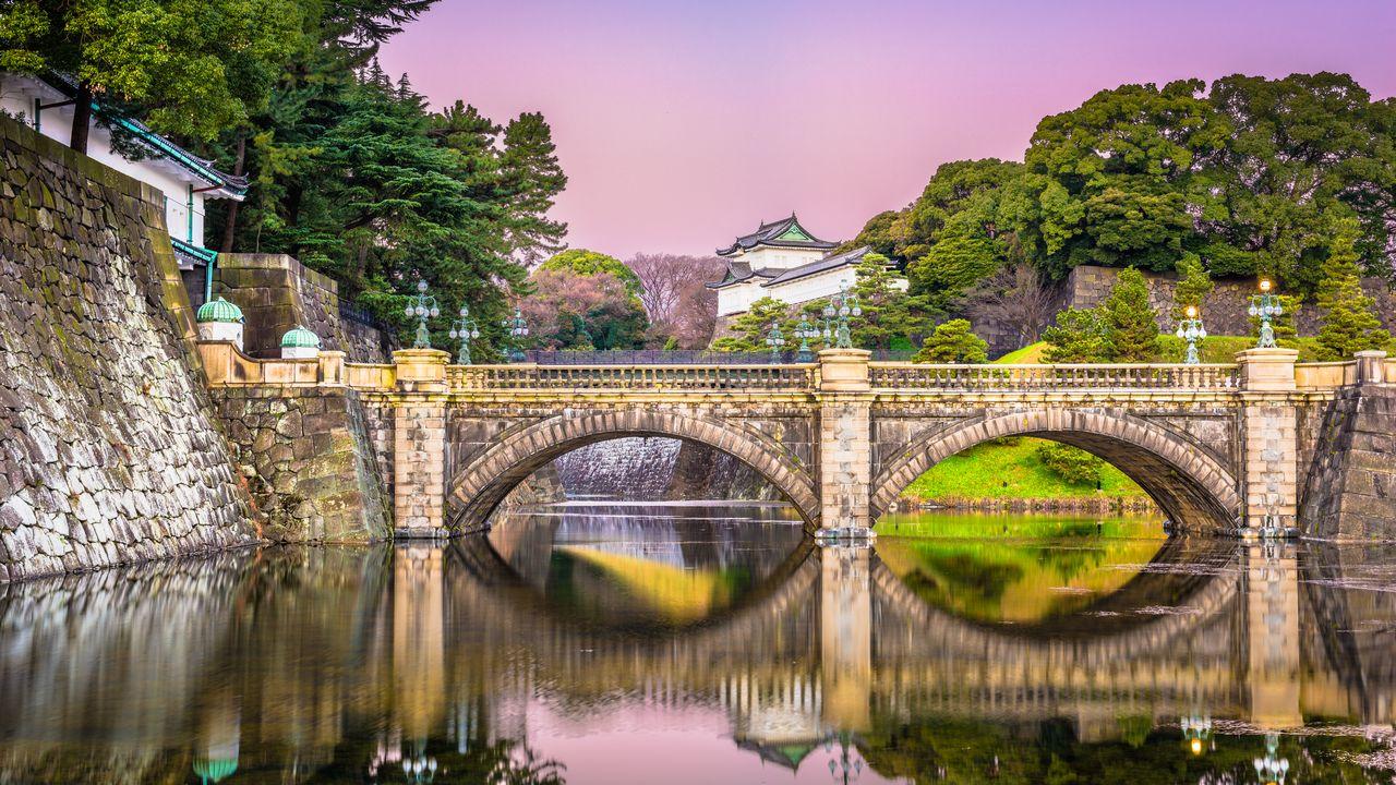 Pohled na palác v Tokiu