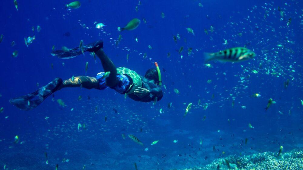 Potápěč v moři