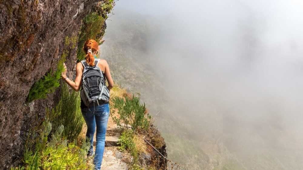 Skály a hory Madeira