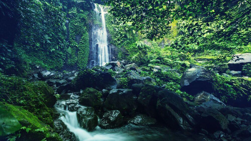 Vodopád Jáva Indonésie