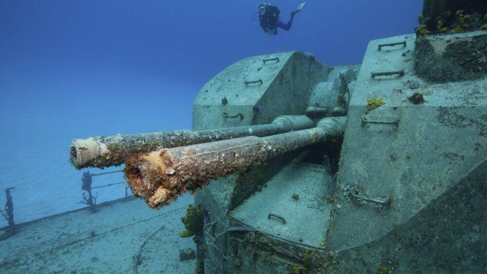 Vrak lodi v Karibském moři