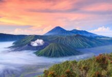 Vulkán Bromo ostrov Java Indonésie