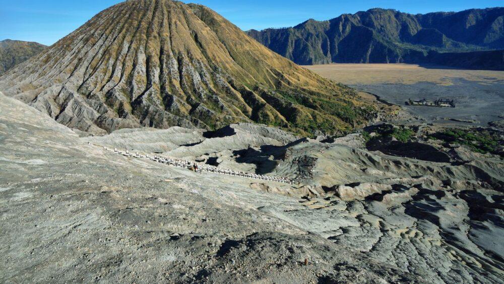 Vulkán na ostrově Jáva