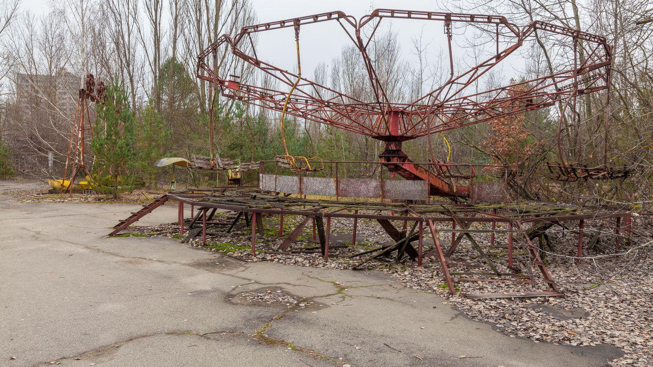 Opuštěný zábavný park ve městě Pripjat