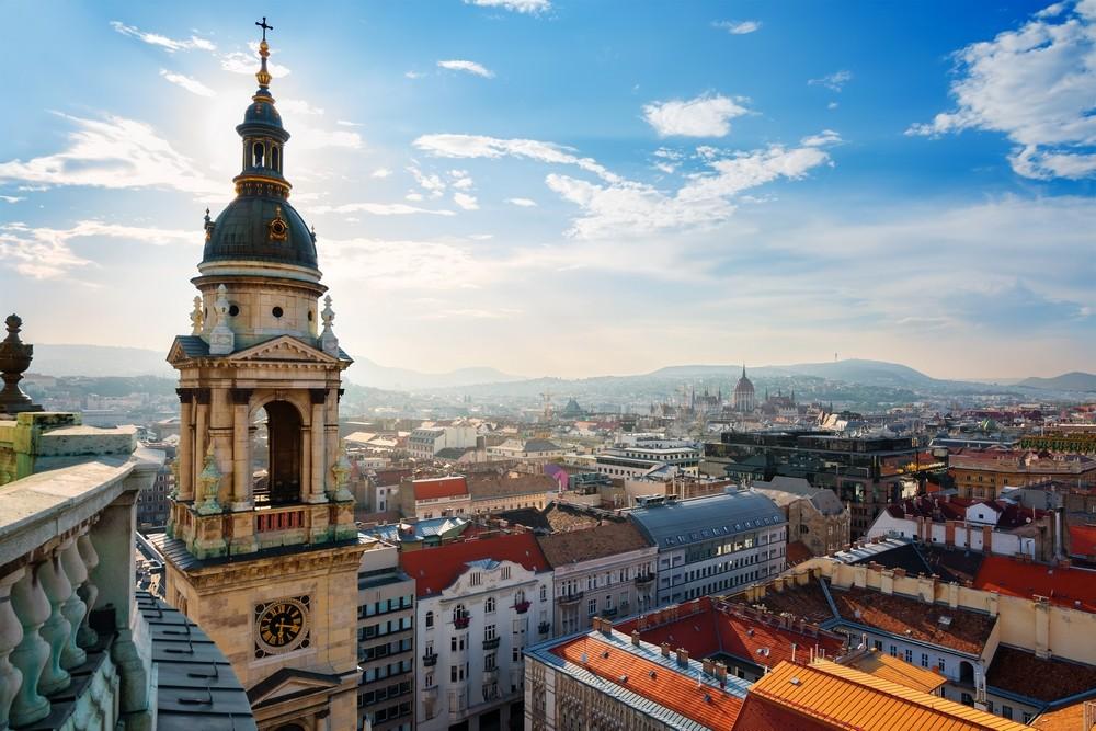 Pohled na město Budapešt