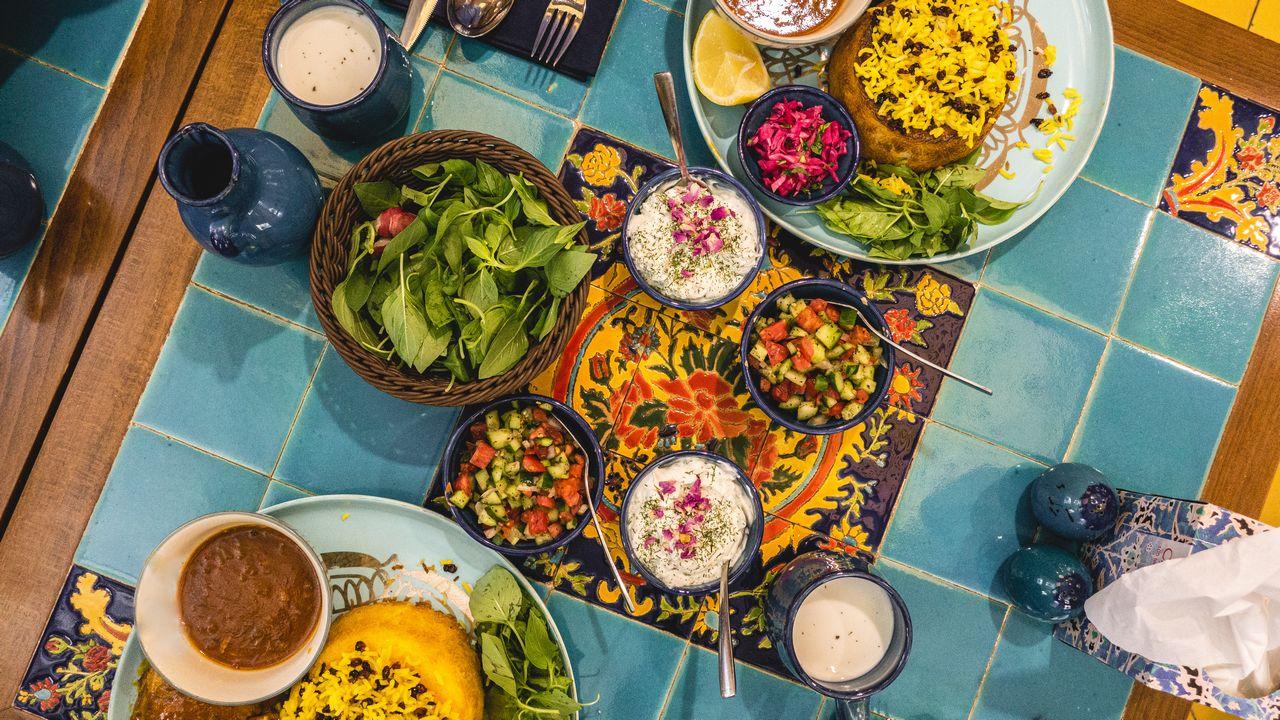 Jídlo - iránská restaurace