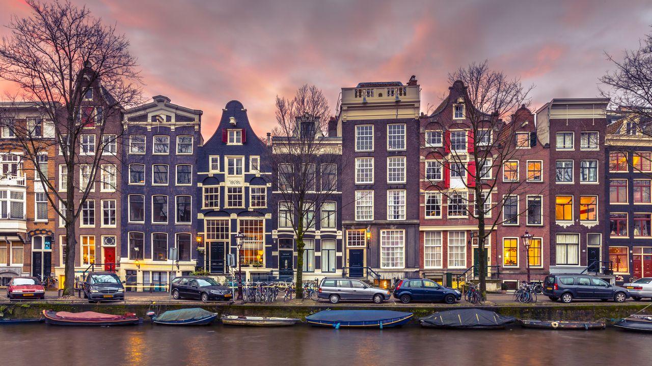 Kanál v Amsterdamu, Nizozemí