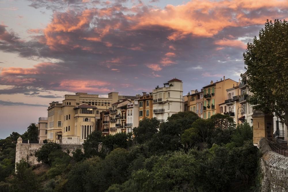 Západ slunce v Monaku