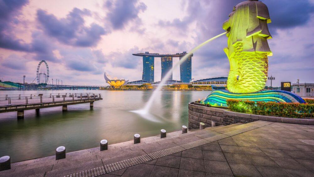 Singapur - fontána