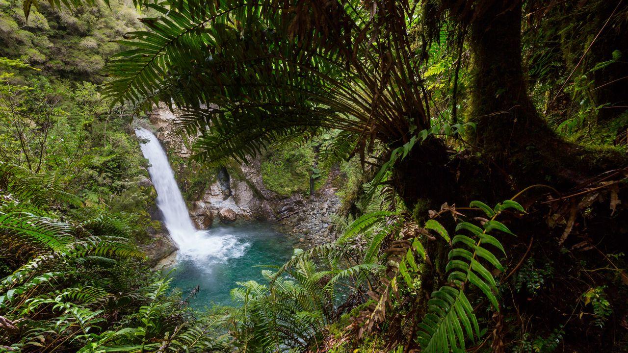 Vodopád v Chile
