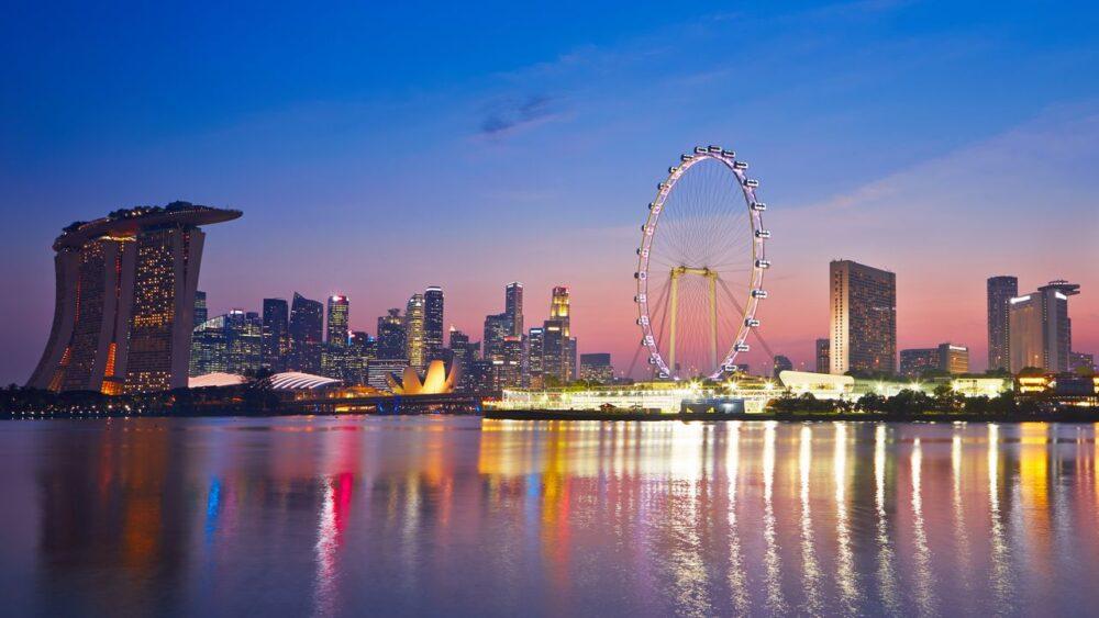Západ slunce v Singapuru