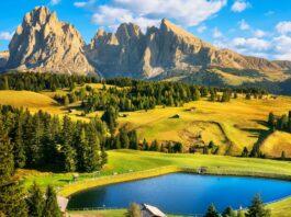 Jezero-a-hory-Alpy
